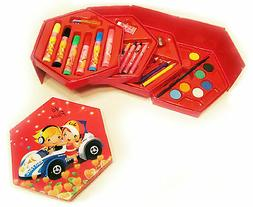 Art Set for Kids: Kit with Child Arts Craft Supplies in Stor