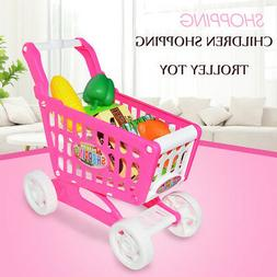 Assembly Simulation Pink Girl Doll Shopping Cart Food Preten
