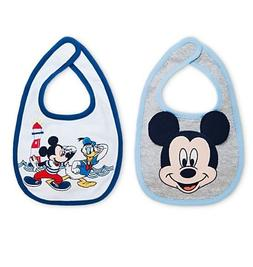 Disney Store Authentic Mickey Mouse & Donald Duck 2pc Bib Se