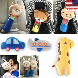 Auto Car Safety Seat Belt Cover Toy Kids Child Head Protect
