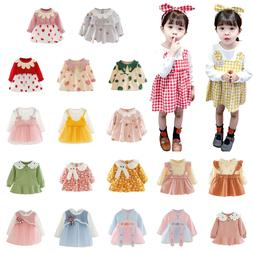 Autumn Baby Girls Clothes Dress Kids Clothing Skirt Infant T