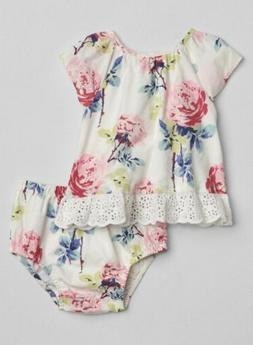 Baby Gap 18-24 months outfits white eyelet floral shirt bloo