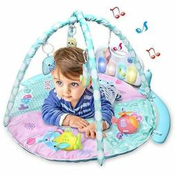 Baby Activity Play Games Piano Gym Mat, Small Boy Infant Car