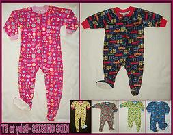 BABY & KIDS ONESIES - 6 mth to 5 yrs CUTE One-Piece ZIP UP P