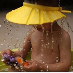Baby Bath Cap EVA Visor Safe Shampoo Shower Bathing Protecti