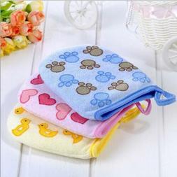 Baby Bath Glove Shower Skin Care Scrubber Massage Clean Glov
