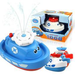 Baby Bath Toys for Kids - Electronic Spray Water Boat Bathti