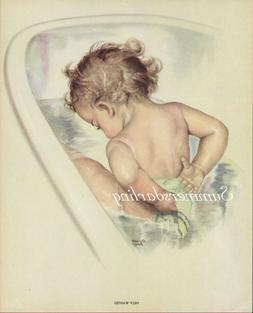 BABY BATH TUB HELP WANTED*QUILT ART FABRIC B LOCK*READY TO