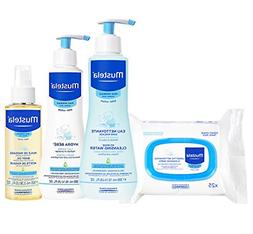 Mustela Baby Bonding Essentials Bundle, Baby Skin Care Gift