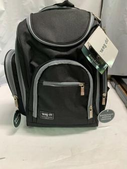 Baby Boom Diaper Bag Travel Backpack 10 Pockets Black Grey B