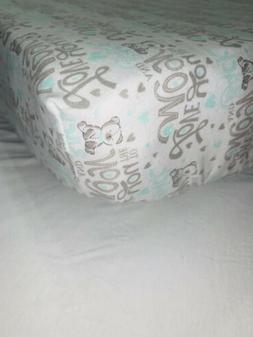 Handmade Baby Boy Crib Fitted Sheet 100% Cotton Fabric.
