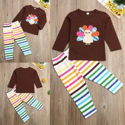 Baby Boy Girl Casual Top+Pants Leggings Set Infant Clothes O
