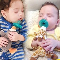 Baby Boy Girl Dummy Pacifier Clip Feeding Plush Animal Toy S