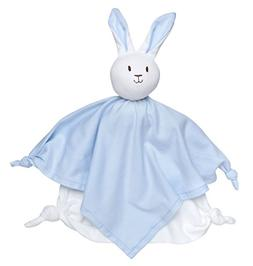 """Under the Nile Baby Boy Lovey Bunny Blanket Friend 10"""" Solid"""