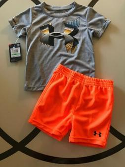 Baby Boy's Infant Under Armour Heat-Gear 2 Piece Shirt Short