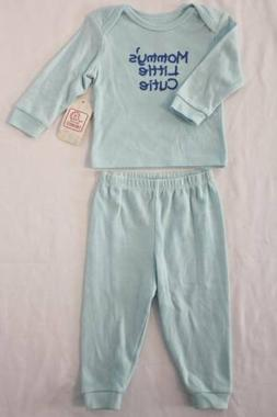 Baby Boys 2 Piece Layette Set 3 - 6 Months Shirt Pants Outfi