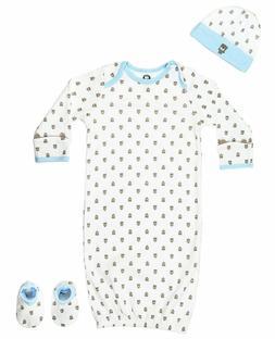Gerber Baby  Boys Bear 4 Piece Sleepwear Essential Layette G