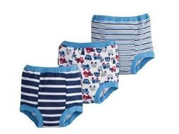 GERBER BABY BOYS COTTON POTTY TRAINING PANTS - BLUE - SIZE 2