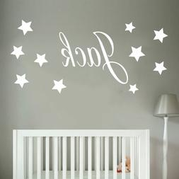 baby boys wall sticker personalised stars child