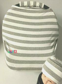 baby Car Seat Canopy Nursing cover blanket Beanie Carrying C