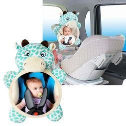 Baby Car Seat Rear View Mirror Safety Mirror Plush Toy For C