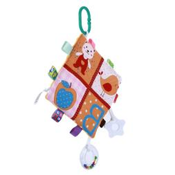 Baby Cartoon Rattles Toy Cloth Book Infant Development Learn