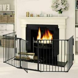 Baby Child Safety Gate Fire Gate Fireplace Pet Dog Cat Fence