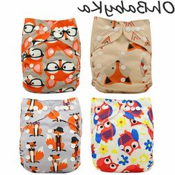 Baby Cloth Diaper Unisex One Size Reusable Washable Pocket N