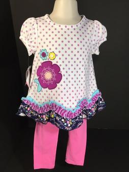 Baby Clothes Girls 2 PC Set Nursery Rhyme Top Leggings SZ 18