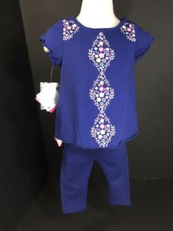 Baby Clothes Girls 6/9 Months Nursery Rhyme Navy Embroidered