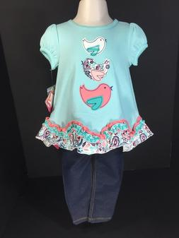 Baby Clothes Girls Nursery Rhyme SZ 18M 2 PC Set Short Sleev