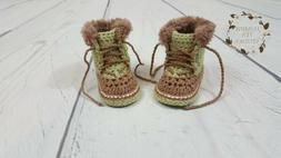 Baby Clothing Snow Boots Booties Shoes Handmade Crochet Newb