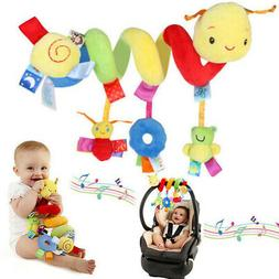 Baby Crib Cot Pram Hanging Rattles Spiral Stroller Car Seat