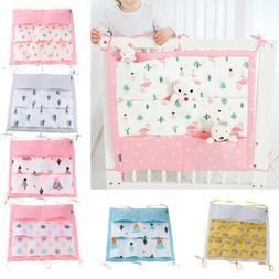 Baby Crib Hanging Bag Diaper Pocket For Toy Storage Organize