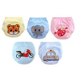 Cartoon  Pants Cotton Washable Nappy Diaper Child Kid Toddle
