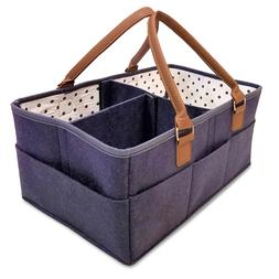 Baby Diaper Caddy Organizer - Nursery Storage Bin for Diaper