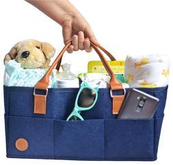Baby Diaper Caddy Nursery Organizer  Large Portable Car Trav