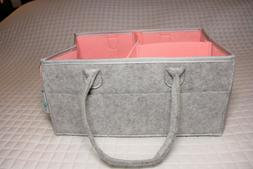 Baby Diaper Caddy Organizer: Portable Holder Bag for Changin