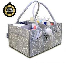 Baby Diaper Caddy Organizer, Shower Gift Basket for Girls Bo