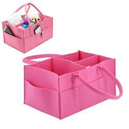 Baby Diaper Wipes Caddy Nursery Bag Infant Nappy Bin Storage