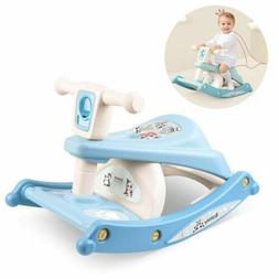 Baby Dining Table Chair Kids Feeding Chair Rocking Horse wit