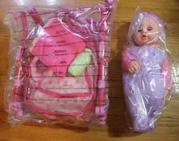 Dream Collection Baby Doll and Folding Stroller Set New