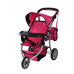 Baby Doll Stroller Play Set Toy For Girls Pink Pretend Mommy