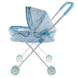 Baby Doll Stroller Trolley for Toddlers with Foldable Basket