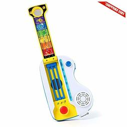 Baby Einstein Flip Riff Keytar Musical Guitar and Piano Todd