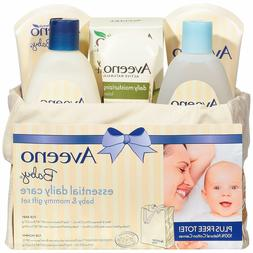 Aveeno Baby Essential Daily Care Baby & Mommy Gift Set featu