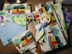 Handmade Baby Essentials 8 piece gift set, bibs, burp cloth,