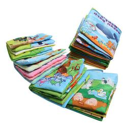 Baby Intelligence Development Soft Fabric Baby Cloth Books E
