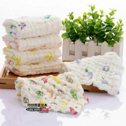 Baby Gauze Towel Wash Cloth Handkerchiefs Feeding Saliva Tow