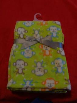 Baby Gear Lime Green NWOT Blanket Orange Blue Brown Gray Mon